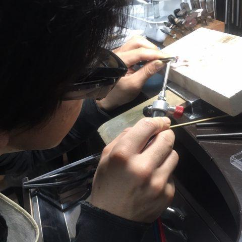 小倉ディティーク手造り結婚指輪我流鍛造作製風景4