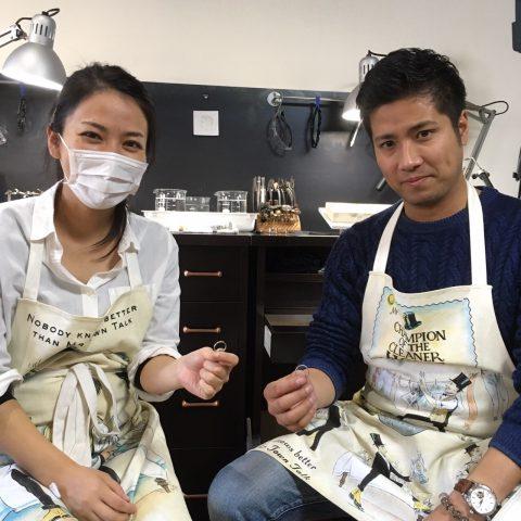 小倉手作り結婚指輪DITIQUE槌目リング-1