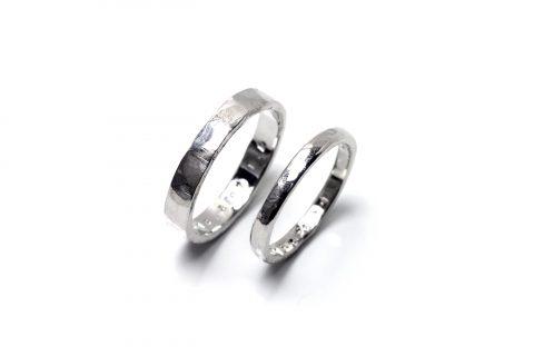 小倉手作り結婚指輪DITIQUE槌目リング-12
