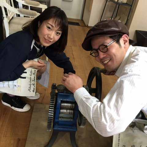 福岡北九州手作り結婚指輪我流鍛造-ローラー