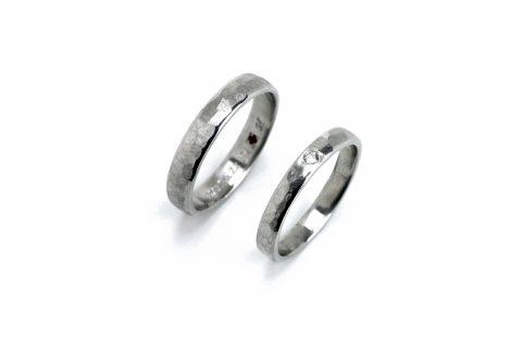 北九州手造り結婚指輪我流鍛造槌目リング