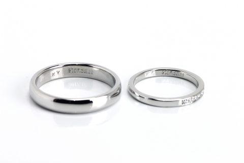 手造り結婚指輪我流鍛造福岡DITIQUE内側