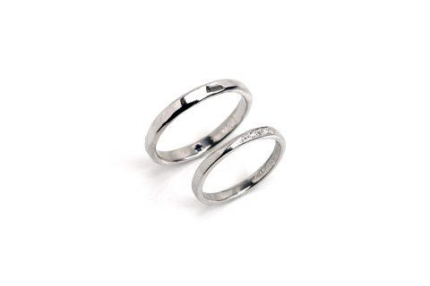 福岡小倉手造り結婚指輪我流鍛造O様完成品マリッジリング