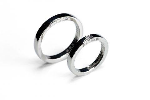 DITIQUE我流鍛造I様手造り結婚指輪北九州福岡小倉平打ちリング