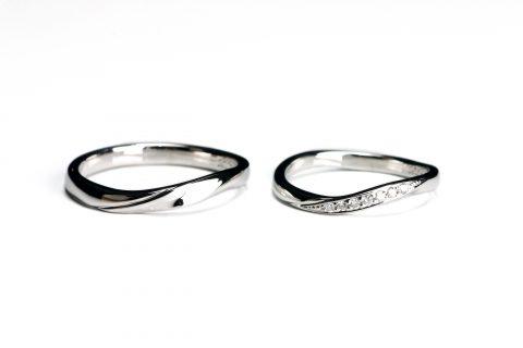 手造り結婚指輪DITIQUE我流鍛造北九州マリッジダイヤモンド