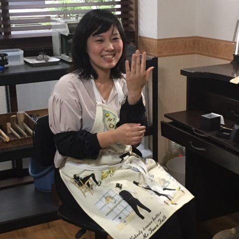 手造り結婚指輪DITIQUE我流鍛造北九州サプライズプロポーズ