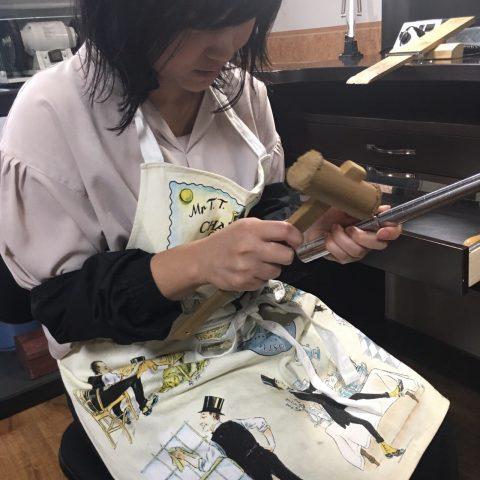 手造り結婚指輪DITIQUE我流鍛造北九州女性も出来る