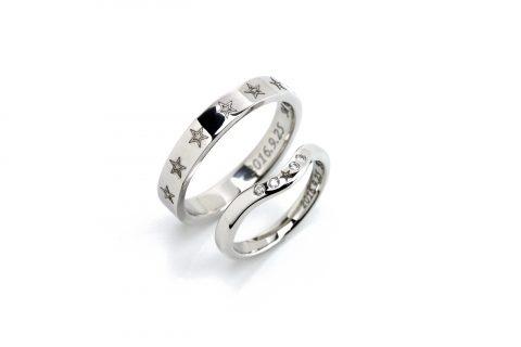 手造りスター星結婚指輪北九州小倉DITIQUEゼクシィ