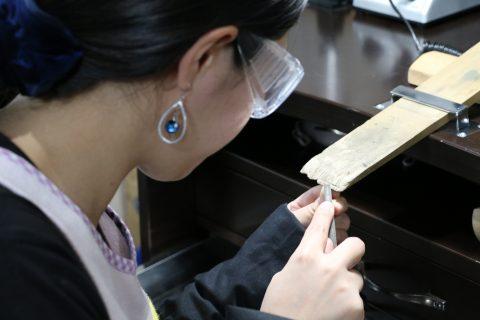 福岡結婚指輪北九州小倉DITIQUE我流鍛造プラチナ加工加工