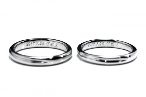 福岡結婚指輪北九州小倉DITIQUE我流鍛造プラチナ加工彫刻
