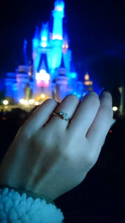 ディズニーランドプロポーズ婚約指輪エンゲージリングDITIQUE福岡北九州小倉ジュエリー