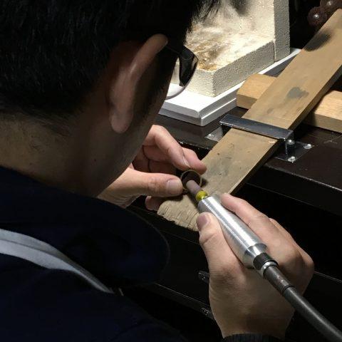 鍛造手造り福岡小倉結婚指輪DITIQUEリューター