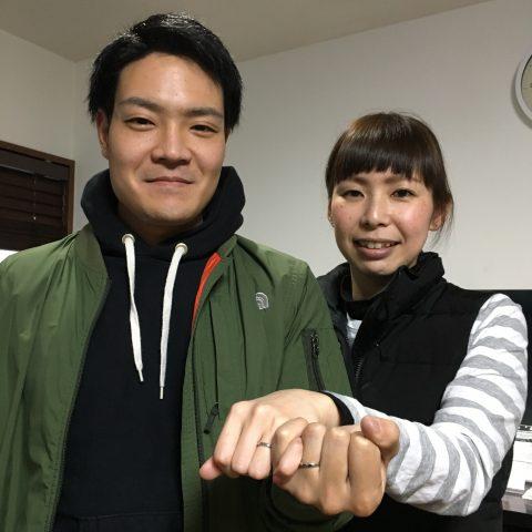 I様 手づくり結婚指輪がりゅうたんぞう福岡北九州小倉DITIQUEゼクシィ仲良し夫婦