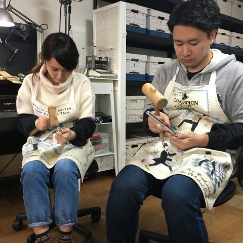 福岡北九州小倉手造り結婚指輪我流鍛造ゼクシィ印台地金加工