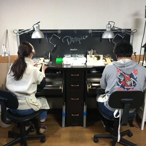 福岡北九州小倉手造り結婚指輪我流鍛造途制作風景