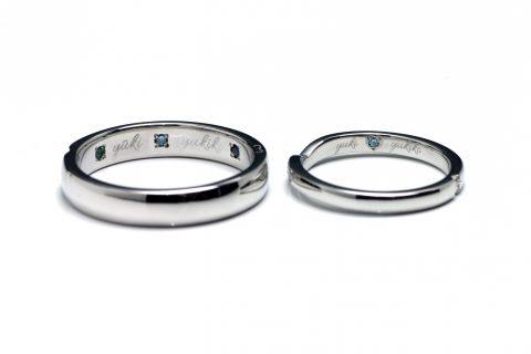 オーダーメイド結婚指輪福岡北九州DITIQUE小倉マリッジリングブルーダイヤモンド