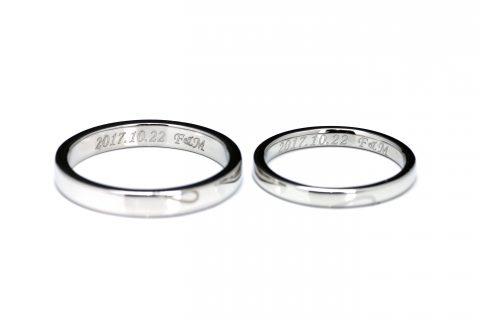 福岡北九州大分DITIQUE手づくり結婚指輪M様彫刻