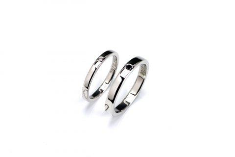 福岡北九州大分DITIQUE手づくり結婚指輪M様シンプル
