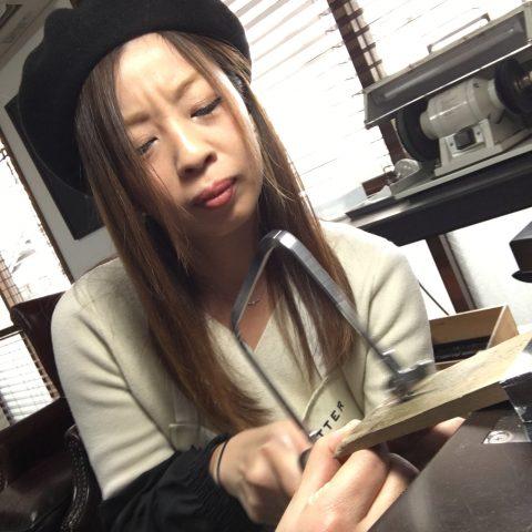 福岡北九州大分DITIQUE手づくり結婚指輪M様ハート女性も簡単