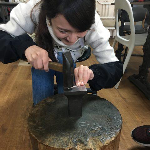 福岡北九州小倉手造り結婚指輪我流鍛造ゼクシィ印台鍛造