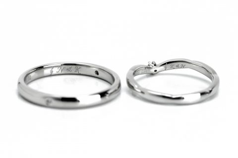 DITIQUE福岡小倉結婚指輪内側デザイン音符