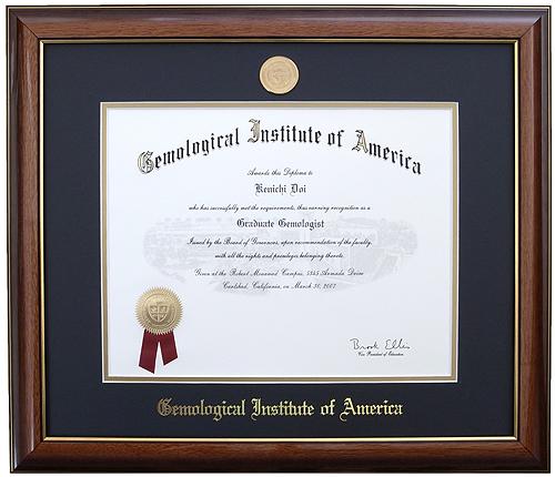 GIA-G.G. 米国宝石学会宝石学修了証の画像