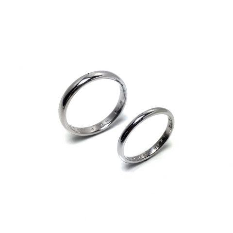 小倉ディティーク手造り結婚指輪我流鍛造プラチナリング