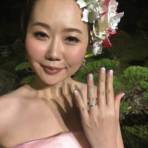 福岡北九州DITIQUEK様奥様結婚指輪