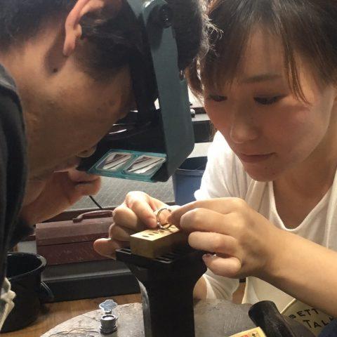 小倉ディティーク手造り結婚指輪我流鍛造作製風景12