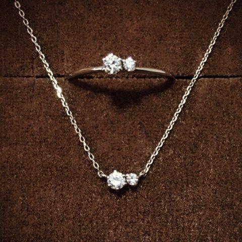 小倉DITIQUEプラチナダイアモンドネックレス&リング