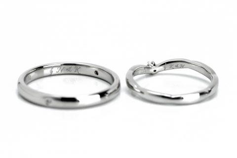 ト音記号結婚指輪DITIQUE福岡オリジナル刻印