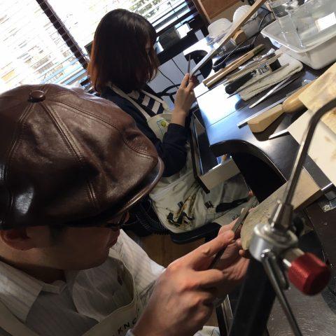 福岡北九州手作り結婚指輪我流鍛造-ヤスリ