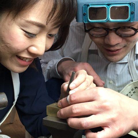 福岡北九州手作り結婚指輪我流鍛造-刻印
