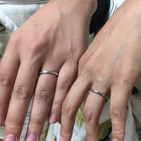 我流鍛造手造りマリッジリング結婚指輪