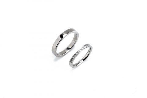 我流鍛造結婚指輪福岡北九州小倉DITIQUEジュエリー