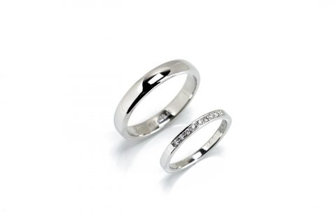 手造り結婚指輪我流鍛造福岡DITIQUE出来上がり
