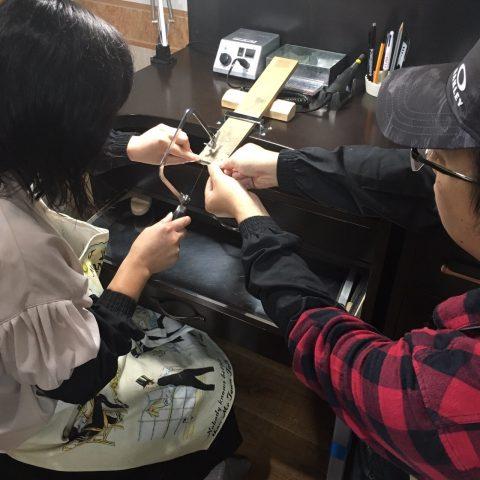 手造り結婚指輪DITIQUE我流鍛造北九州作業風景