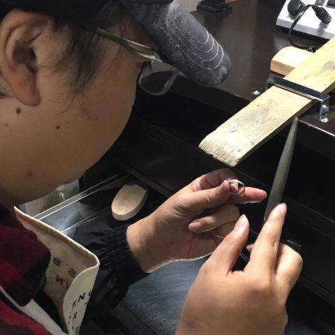 手造り結婚指輪DITIQUE我流鍛造北九州マリッジ制作