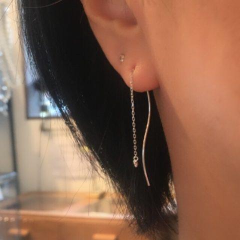 福岡北九州小倉ジュエリー宝石DITIQUEクリスマスピアスダイヤモンド