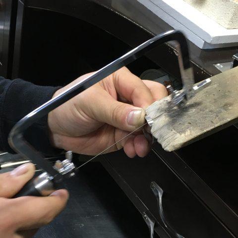 福岡北九州手造り結婚指輪DITIQUE我流鍛造糸鋸ゼクシィ