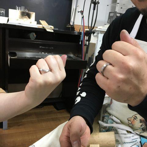 福岡北九州手造り結婚指輪DITIQUE我流鍛造順調ゼクシィ