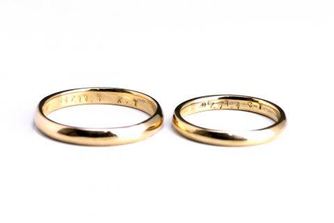 鍛造手造り福岡小倉結婚指輪DITIQUE刻印ご自身自分手打ち