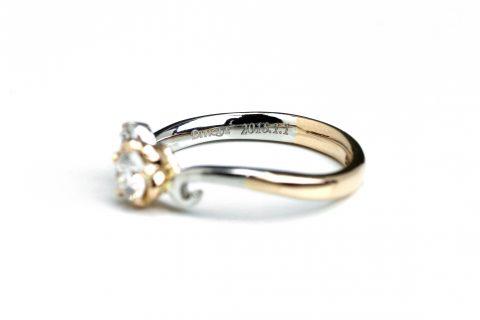 ディズニーランドプロポーズ婚約指輪エンゲージリングDITIQUE福岡北九州小倉ジュエリーダイヤモンド