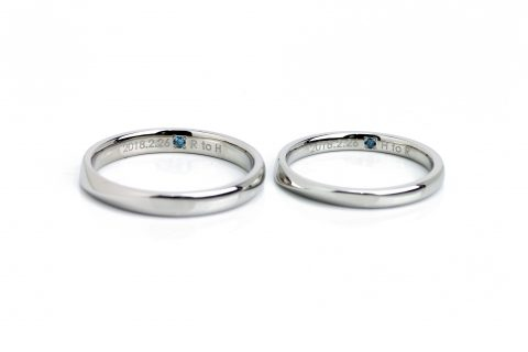 福岡北九州ジュエリー結婚指輪大分博多DITIQUEオーダーマリッジブルーダイヤモンド