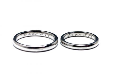 I様 手づくり結婚指輪がりゅうたんぞう福岡北九州小倉DITIQUEゼクシィ内側は彫刻