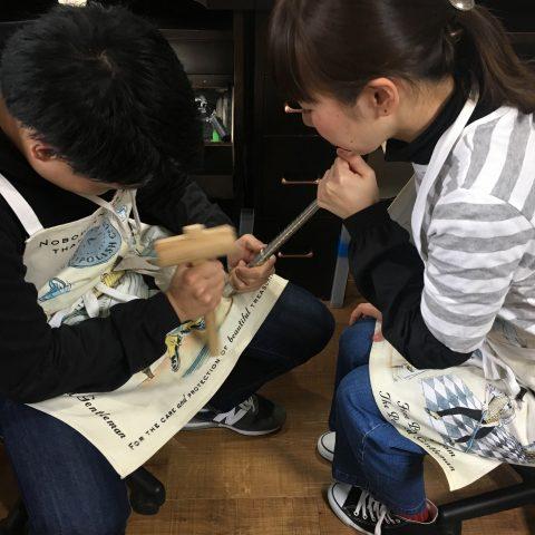 I様 手づくり結婚指輪がりゅうたんぞう福岡北九州小倉DITIQUEゼクシィふたりで作業