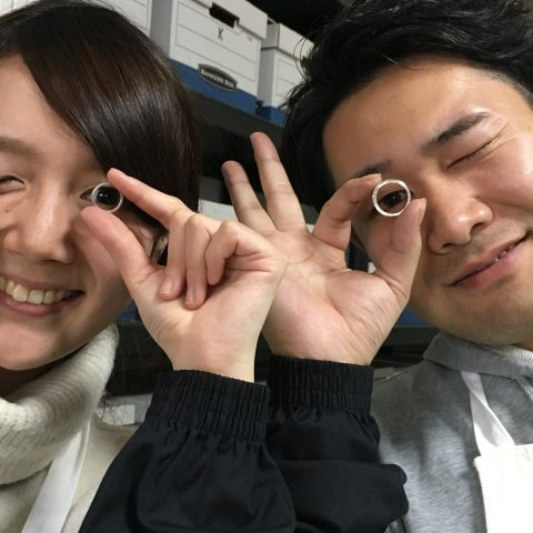 福岡北九州小倉手造り結婚指輪我流鍛造目