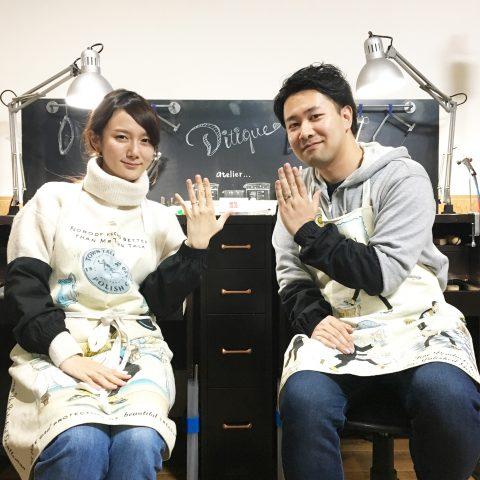 福岡北九州小倉手造り結婚指輪我流鍛造ロックな2人