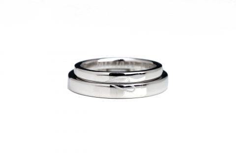 福岡北九州大分DITIQUE手づくり結婚指輪M様重ねてハート