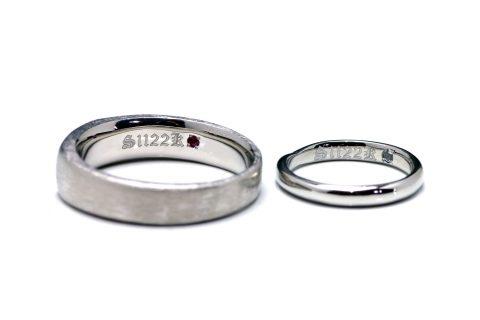 福岡北九州小倉手造り結婚指輪我流鍛造内側彫刻ロック